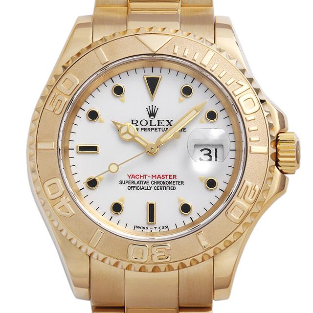 【48回払いまで無金利】ロレックス ヨットマスター 16628 ホワイト U番 メンズ(009VROAU0276)【中古】【腕時計】【送料無料】