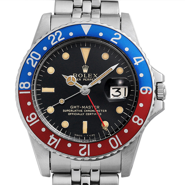 【48回払いまで無金利】ロレックス GMTマスター 1675 ブラックミラー/小針/ジュビリーブレス 13番 メンズ(01CIROAA0001)【アンティーク】【腕時計】【送料無料】