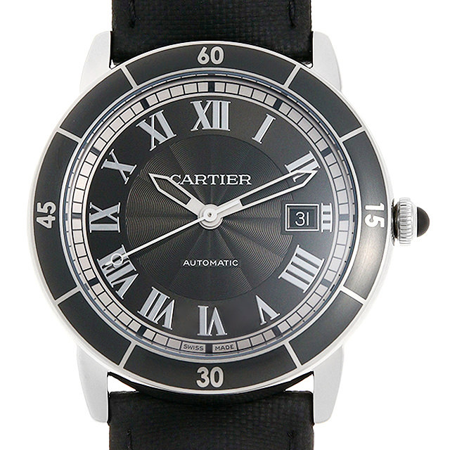カルティエ ロンド クロワジエール ドゥ カルティエ WSRN0003 メンズ(02FACAAU0002)【中古】【腕時計】【送料無料】