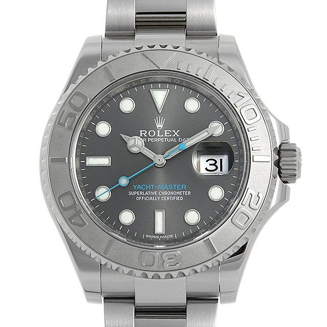 【48回払いまで無金利】ロレックス ヨットマスター ロレジウム 116622 ダークロジウム ランダムシリアル メンズ(04DNROAU0002)【中古】【腕時計】【送料無料】