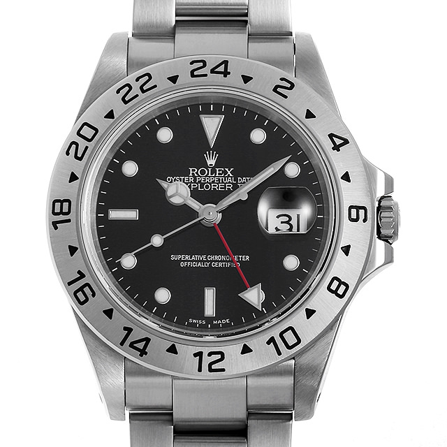 ロレックス エクスプローラーII 16570 ブラック P番 メンズ(0E82ROAU0001)【中古】【腕時計】【送料無料】