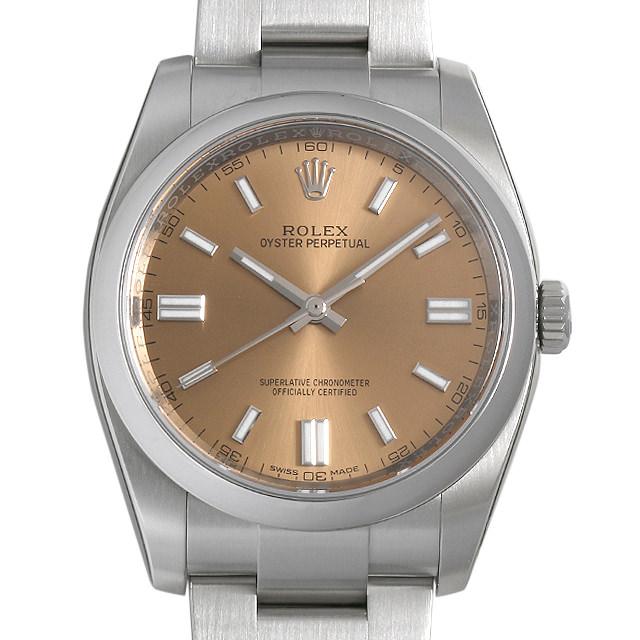 【48回払いまで無金利】ロレックス オイスターパーペチュアル 116000 ホワイトグレープ ランダムシリアル メンズ(0OFNROAU0001)【中古】【腕時計】【送料無料】
