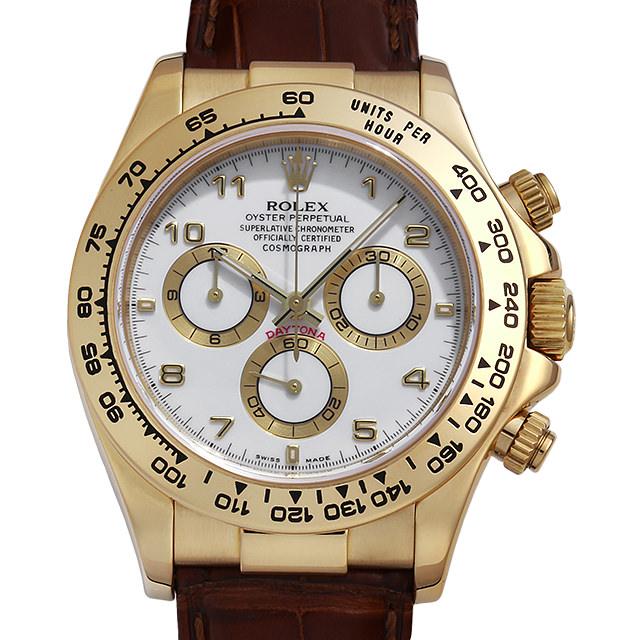 【48回払いまで無金利】ロレックス コスモグラフ デイトナ 116518 ホワイト/アラビア Y番 メンズ(006XROAU1143)【中古】【腕時計】【送料無料】