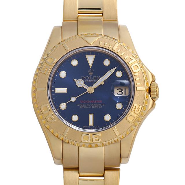 ロレックス ヨットマスター 68628 ブルー W番 ボーイズ(ユニセックス)(007UROAU0664)【中古】【腕時計】【送料無料】