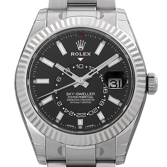 【48回払いまで無金利】ロレックス スカイドゥエラー 326934 ブラック メンズ(0QWIROAN0002)【新品】【腕時計】【送料無料】【キャッシュレス5%還元】