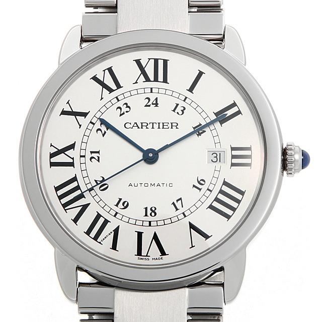 【48回払いまで無金利】カルティエ ロンド ソロ ドゥ カルティエ XL W6701011 メンズ(007UCAAU0214)【中古】【腕時計】【送料無料】【キャッシュレス5%還元】