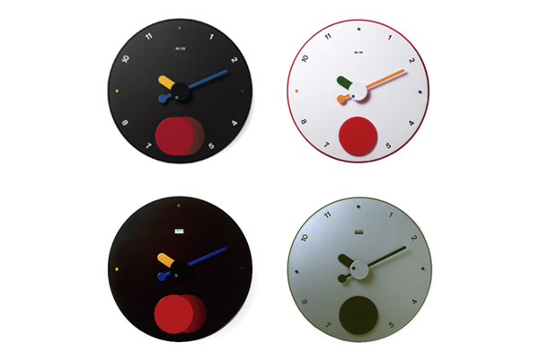 REXITE レキサイト CONTRATTEMPO 블랙 콘트라 박자 추 시계 선물로 대 인기! 이탈리아 제 디자인 벽 시계 45cm의 BIG 페이스 ☆ 숫자 표기입니다