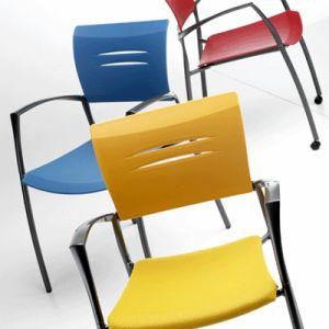 (4leg with castors) ZAS 【送料無料】スペイン visitor chair Dynamobel社