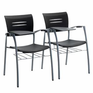 【送料無料】スペイン Dynamobel社 ZAS visitor chair (with side-table & bookrack)