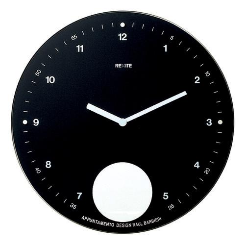 【送料無料】REXITE レキサイト APPUNTAMENTO 黒 アプンタメント 振り子時計ギフトに大人気!イタリア製デザイナーズ時計