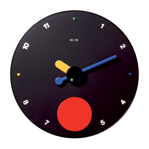 Very popular with REXITE レキサイト CONTRATTEMPO black contra-tempo pendulum clock gift! Made in Italy design wall clock 45 cm BIG face ☆ numerals and