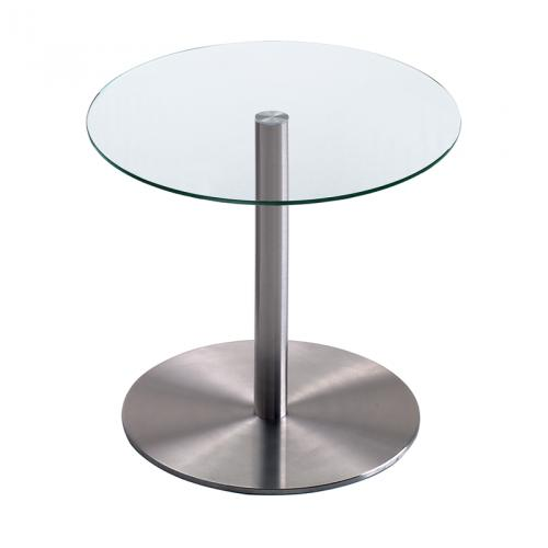 REXITE レキサイト ガラステーブルDesco Round Table (H 45cm) Glass Top(クリア)