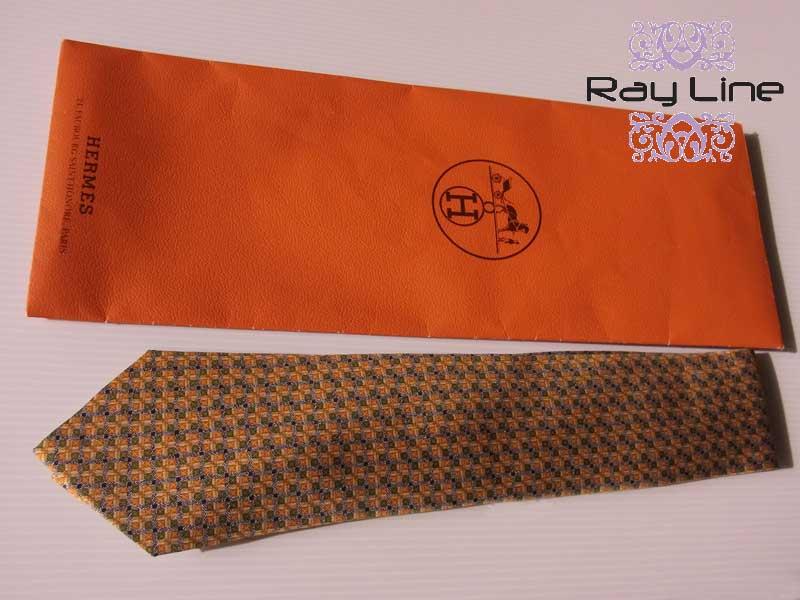 令和記念 ****エルメス 男性用 ネクタイ イエロー×グリーン系未使用品【中古】