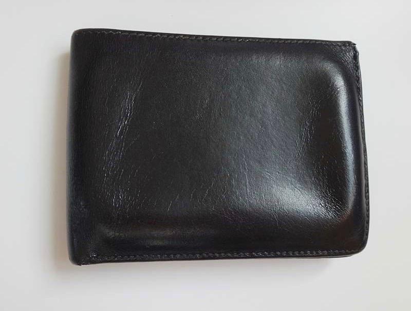 HERMES エルメス 二つ折り 財布 レザー ブラックメンズサイフコインケース有り男メンズ財布革【中古】 h-002