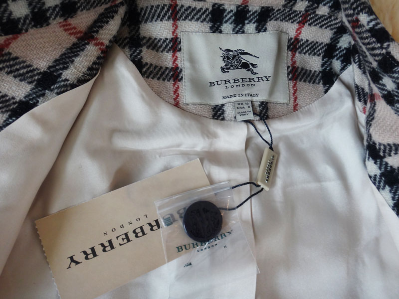 ★Burberry Burberry Lady's wool long coat check ★ t-003 △△ t1000922◆◆