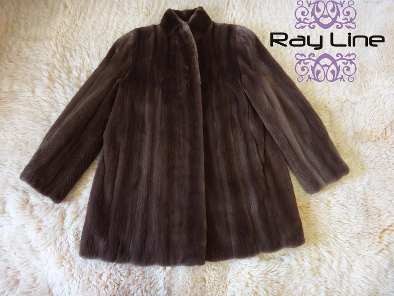 50%OFF 毛皮コート ミンク シェアード ブラウン系 古着 コート レディースコート ロング アウター上品 大人 冬物 オーバーサイズ アウター 防寒 暖かい 中古 t-003