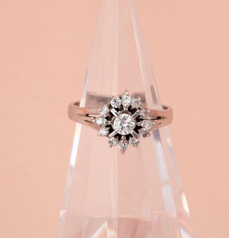 ダイヤモンド 指輪PT900 12サイズ 0.47ct 5.2g 指輪【中古】t-001
