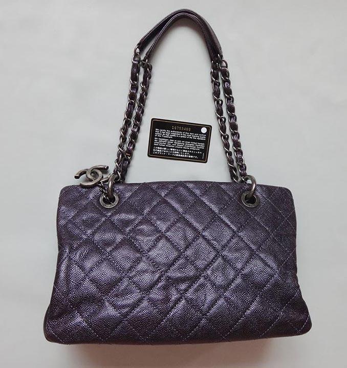76bbea368f52 CHANELシャネルマトラッセチェーンショルダーバッグ/ショルダーバッグキャビアスキン濃い紫16番台美