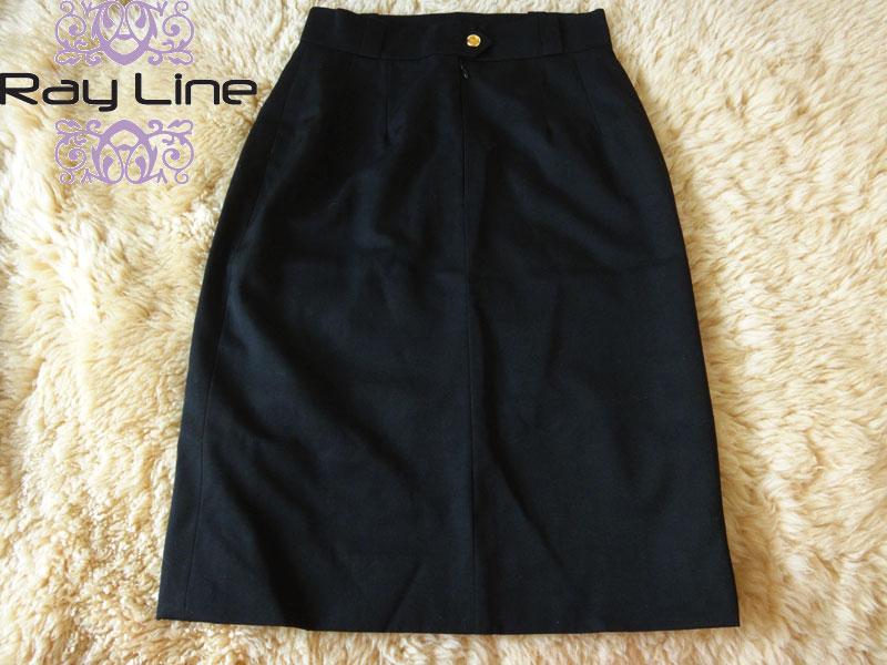 CHANEL シャネル スカート サイズ40 シルク100% 黒美品 古着 【中古】c-003