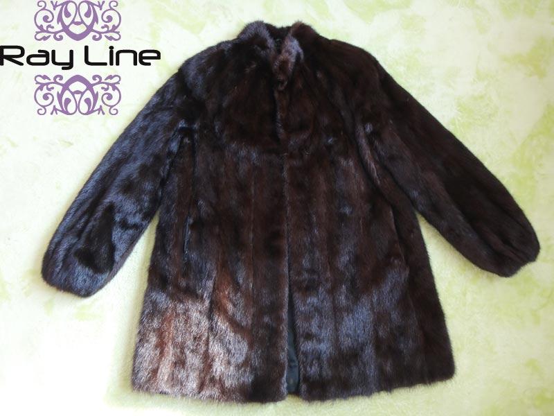 コート 防寒 暖かいSAGAMINKコート サガミンクコート 毛皮コート ブラウン系 古着 【中古】t-003