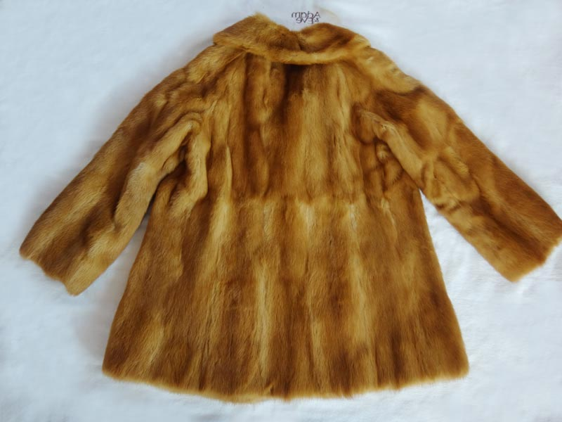 Moon Bat Fur MINK mink fur half-court Brown 13 k