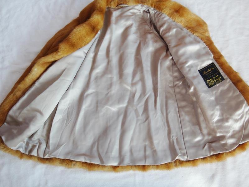 Moon Bat Fur MINK mink fur half-court Brown 13 k