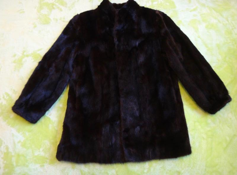 コート 防寒 暖かいMACK GARRY マックギャリー MINKコート ミンクコート 毛皮コート サイズ15 ブラウン系 美品 古着 【中古】t-003