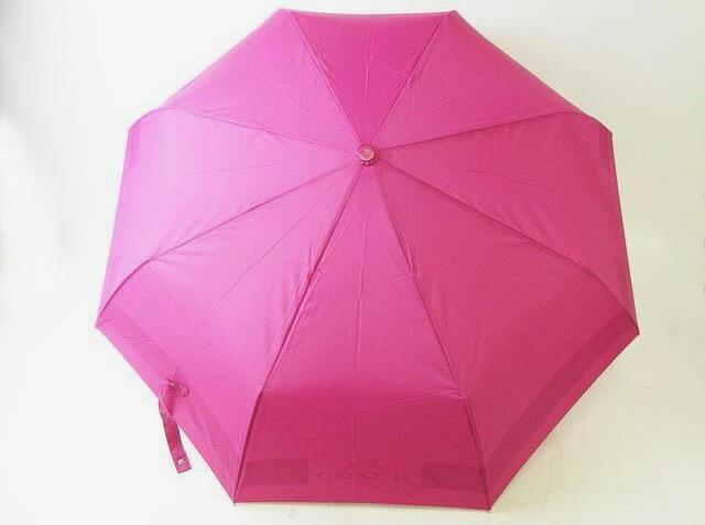 COACH コーチ 折りたたみ 傘 かさ カサ アンブレラ アンブレラ ピンク 美品【中古】