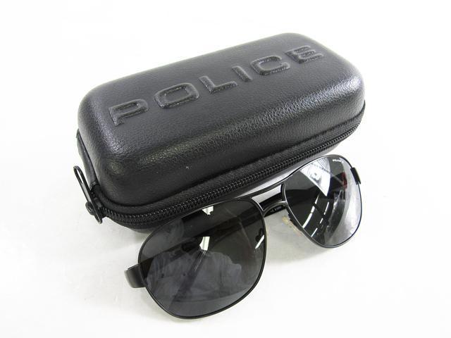 未使用品 POLICE ポリス サングラス ブラック系 S8564 美品 男女兼用 メンズ レディス【中古】