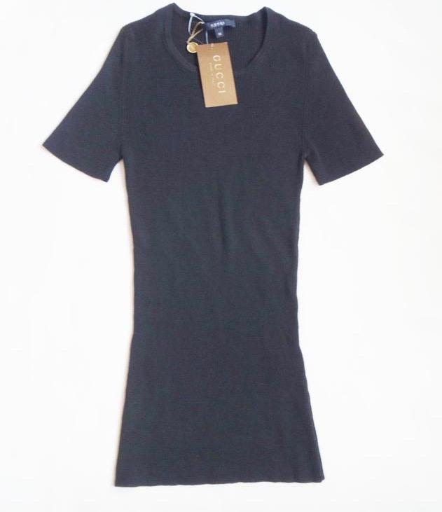 未使用品 GUCCI グッチ レディース ニットシャツ 黒 Mサイズ ウール100% 未使用品 古着 【中古】t-003 ◆◆ y16-3465