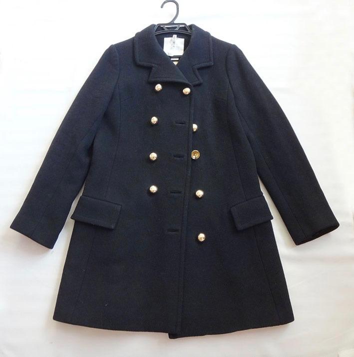 kate spade ケイト スペード ミディアムコート 黒 サイズ4 古着【中古】t-003