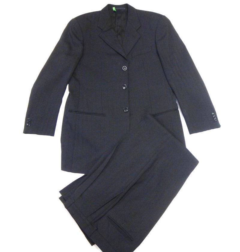 美品 ARMANI アルマーニ メンズ セットアップ パンツスーツ 黒 サイズ48 クリーニング済 古着 【中古】t-003