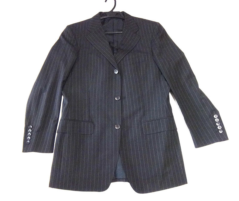 GUCCI古驰人装置裤装西装黑尺寸48旧衣服美品清洗济t-003 y17-4411◆◆