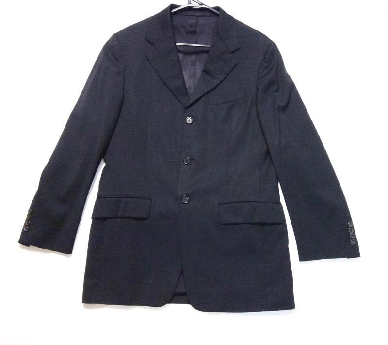 PRADA プラダ メンズ セットアップ ショッピング パンツスーツ メーカー公式  黒 中古 t-003 00 古着 サイズ48R y17-4409