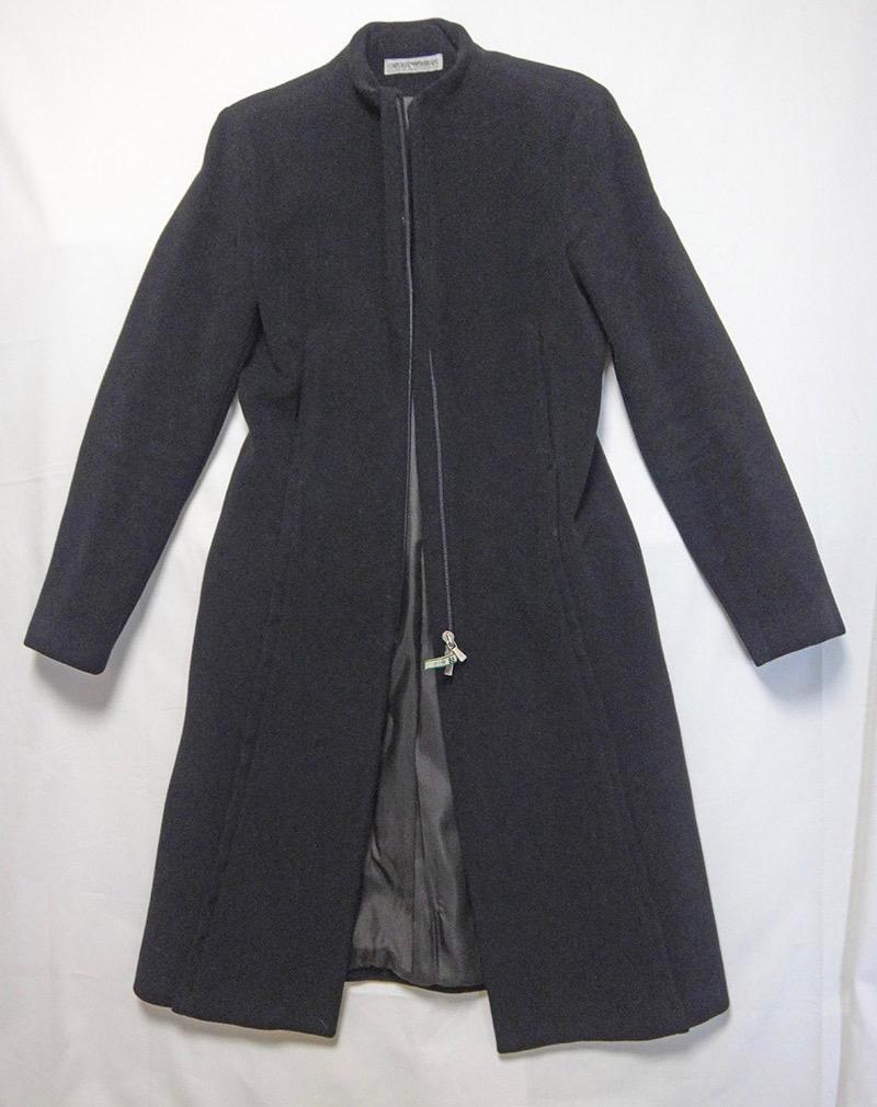 EMPORIO ARMANI エンポリオ・アルマーニ レディース コート 黒 古着【中古】t-003