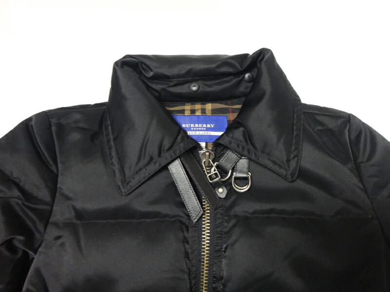 4d5d6f09aa53 Burberry Burberry Blue Label blue label Lady s down jacket black size 38 old  clothes t-003 y17-4725◇◇