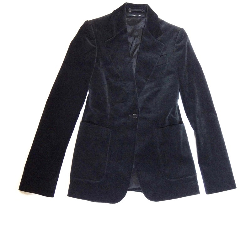 cff21928ed9 GUCCI Gucci Lady s jacket suede-like black size 38 old clothes t-003