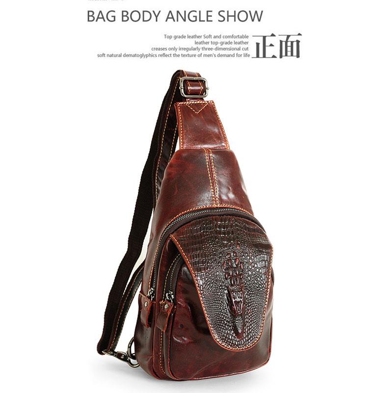 スリングバッグ Sling Bag 赤褐色 レザー天然牛革【新品】△△