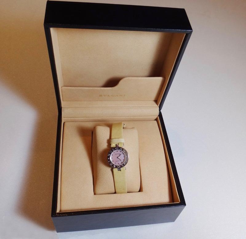 令和記念 BVLGARI ブルガリ BZ22S B-zero1 QZ 腕時計 ピンクシェル盤 美品【中古】t-004