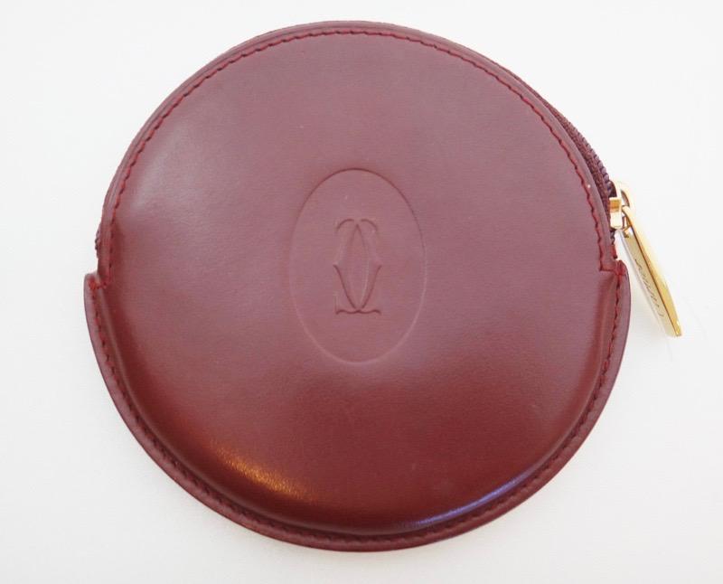 @@@ Cartier Cartier mast line case coin case leather Bordeaux■■