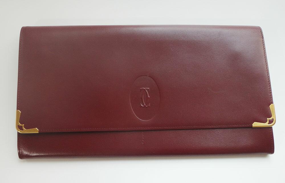 Cartier カルティエ マストラインケース クラッチバッグ レザー ボルドー ブランドバッグ BAG 本物 ブランド プレゼント【中古】