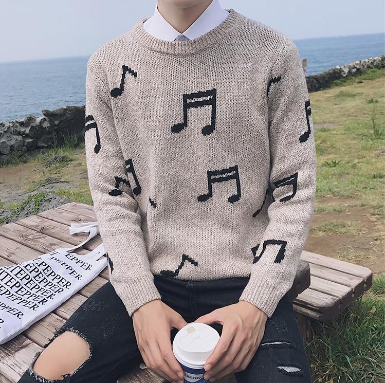 メンズ セーター クルーネック 長袖 全5色 M-2XLサイズ 新品未使用品 t-003△△da003-m696