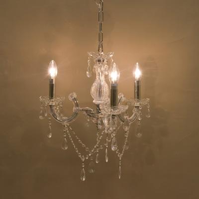 LED対応 ガラスパーツがオシャレ 3灯クリスタルガラスシャンデリア Trinity トリニティ 新品未使用品 t-003△△