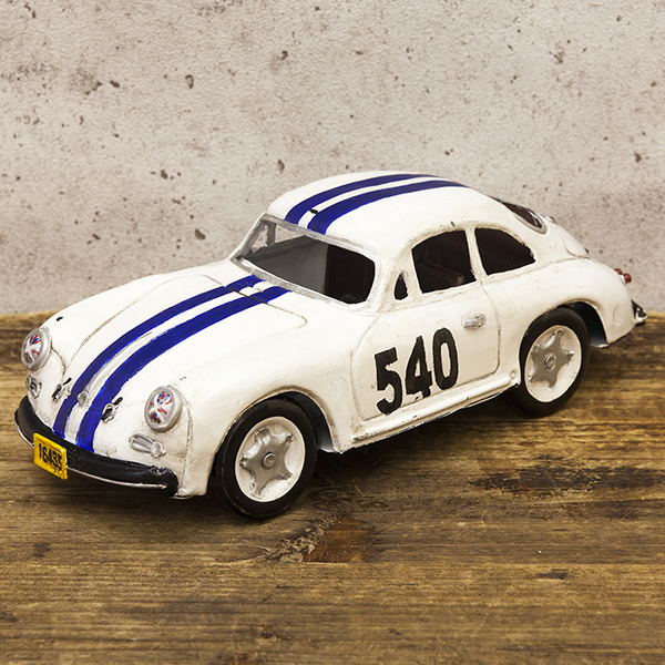 【Good Old Days Car】レトロ調 ヴィンテージ RACING WHITE 540 新品未使用品 t-003△△