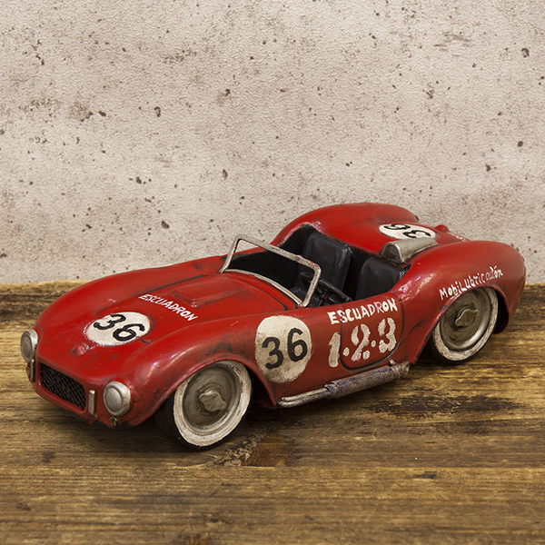 【Good Old Days Car】レトロ調 ヴィンテージ RACING RED 36 新品未使用品 t-003△△