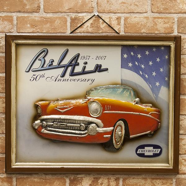 ANTIQUE BOARD アンティークボード Chevrolet 50th Anniversary 新品未使用品 t-003△△