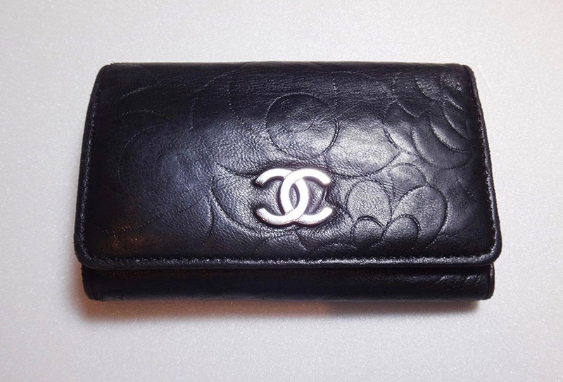 CHANEL Chanel camellia six key case leather black c-002 introspectiveness leather baldness 13058006