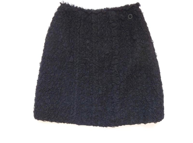 CHANEL シャネル スカート サイズ36 黒 ひざ丈 古着 美品【中古】c-003
