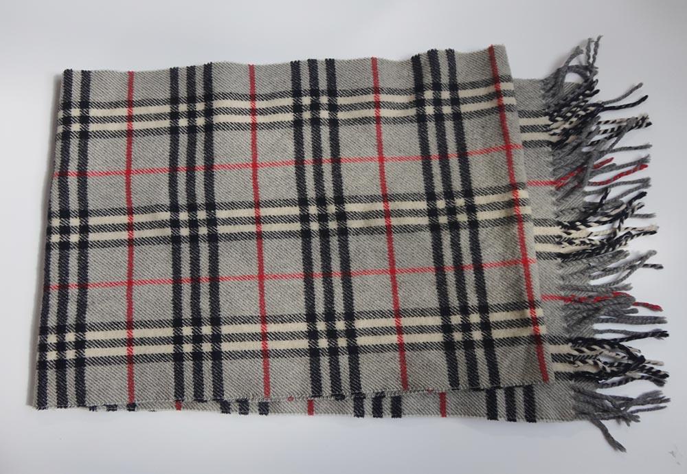 Burberry バーバリー マフラー チェック wool 100% メンズ レディース マフラー 【中古】t-003 y81-5457◆◆