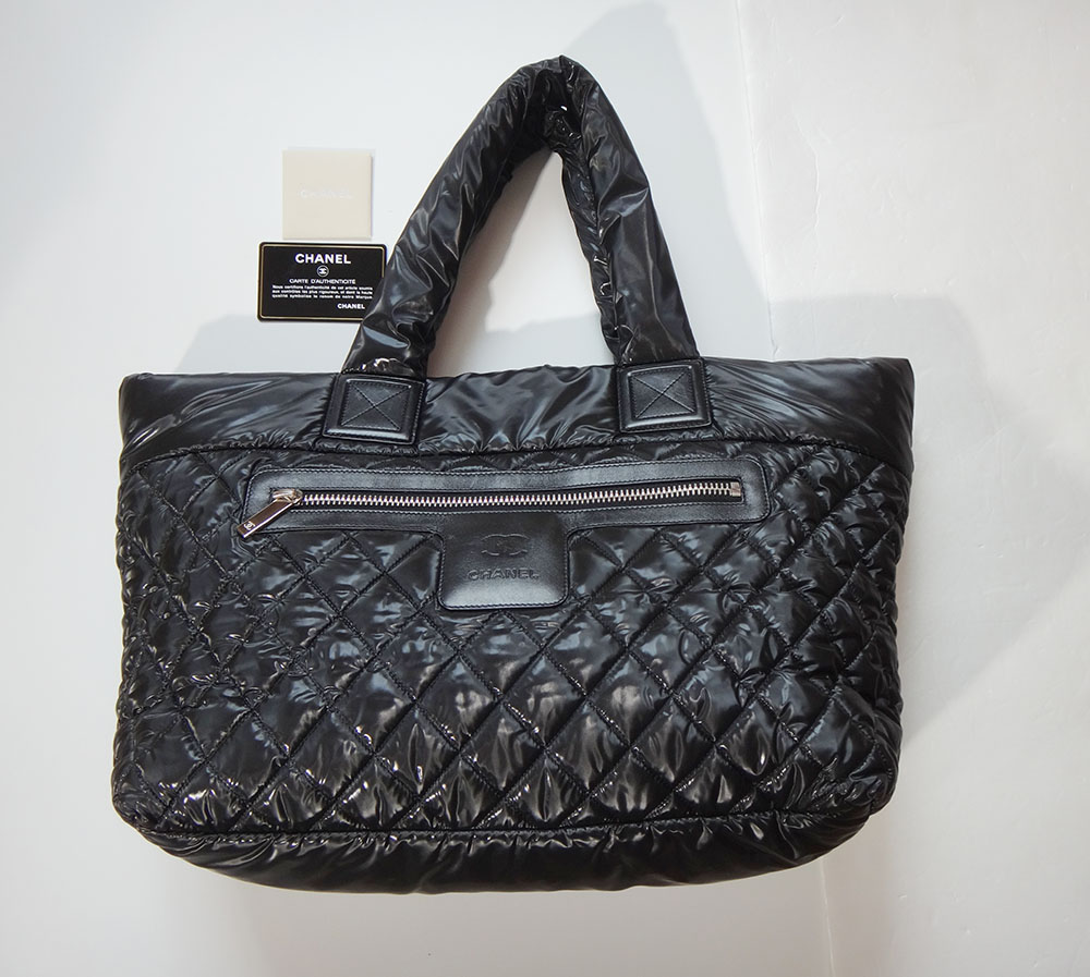 3f02e6925b98 Image is loading Chanel-Coco-Cocoon-Tote-Bag-MM-nylon-quilted-